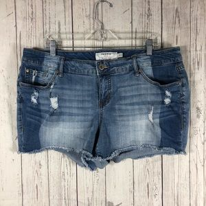 Torrid | Denim Distressed Shorts